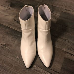Quipid - White Ankle Booties